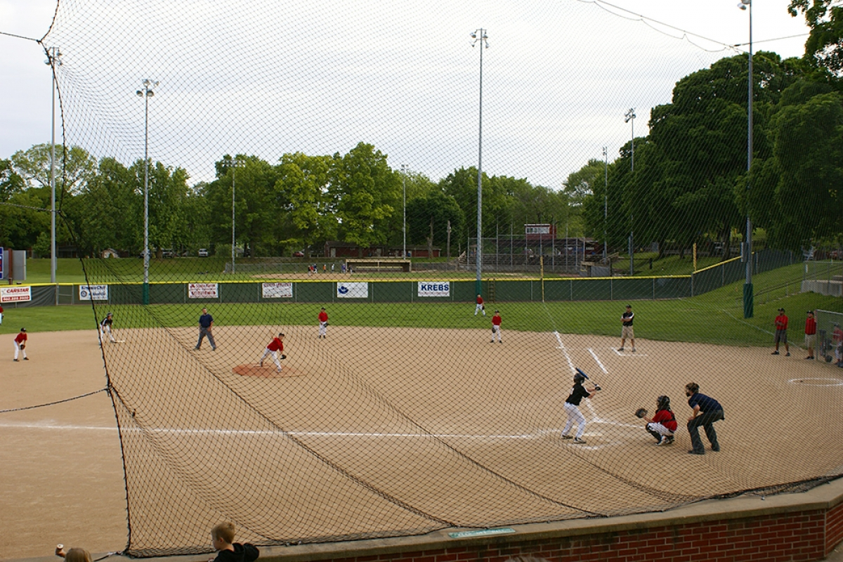Ballfields at park across the street